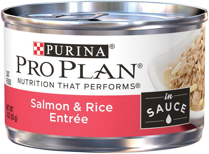 Purina Pro Plan Savor Adult Salmon & Rice in Sauce Entree Canned Cat Food