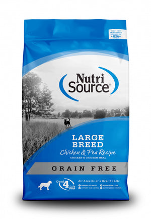 NutriSource Grain Free Large Breed Chicken & Pea Dry Dog Food