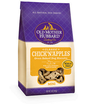 Old Mother Hubbard Crunchy Classic Natural Chick'N'Apples Mini Biscuits Dog Treats