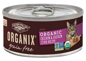 Castor and Pollux Organix Grain Free Organic Chicken and Chicken Liver Recipie Canned Cat Food