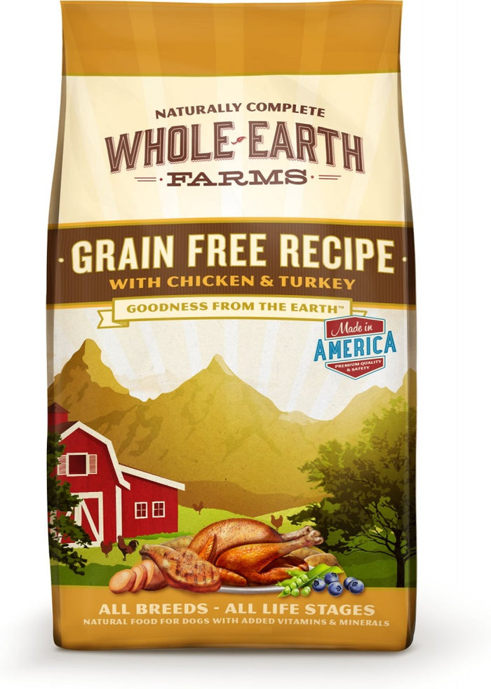 Whole Earth Farms Grain Free Recipe with Chicken and Turkey Dry Dog Food