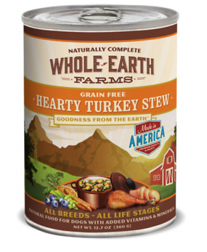 Whole Earth Farms Grain Free Hearty Turkey Stew Canned Dog Food