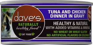Dave's Naturally Healthy Tuna and Chicken Dinner in Gravy Canned Cat Food