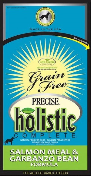 Precise Holistic Complete Grain Free Salmon Meal and Garbanzo Bean Formula Dry Dog Food