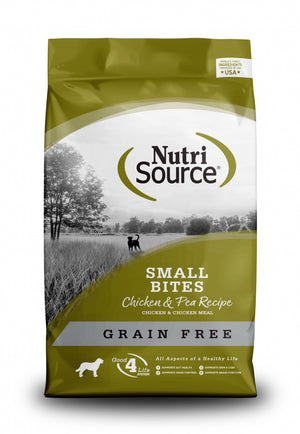 NutriSource Grain Free Small Breed Bites Chicken & Pea Recipe Dry Dog Food