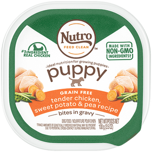 Nutro Puppy Tender Chicken & Rice Recipe Cuts In Gravy Dog Food Trays