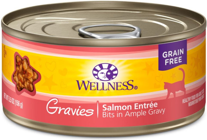 Wellness Natural Grain Free Gravies Salmon Dinner Canned Cat Food