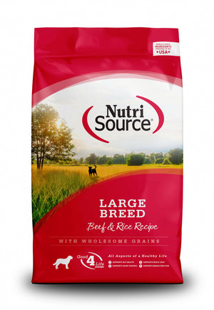 NutriSource Large Breed Beef & Rice Recipe Dry Dog Food