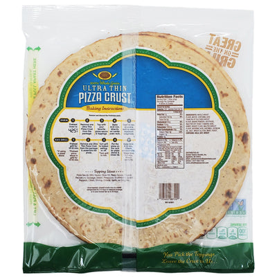 12 inch - Golden Home Whole Grain Ultra Thin Crust Pizza - 14.25oz. - Healthy Heart Market