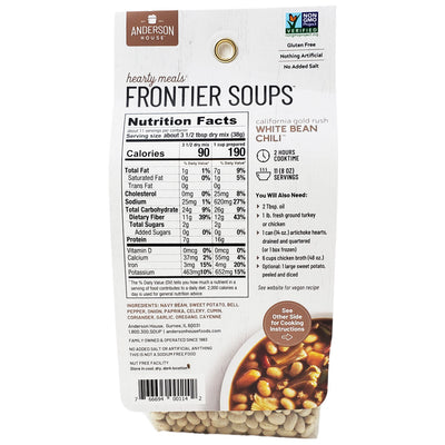 Frontier California Gold Rush White Bean Chili-15 oz. - Healthy Heart Market