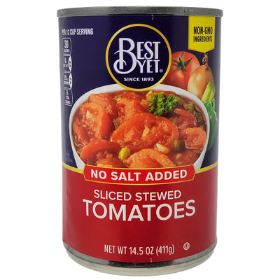 Best Yet No Salt Added Sliced Stewed Tomatoes - 14.5oz