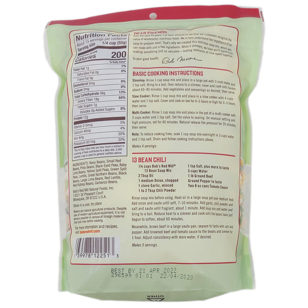 Bob's Red Mill 13 Bean Soup Mix Low Sodium