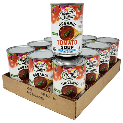 CASE OF 12 - Health Valley Tomato No Salt Added Soup