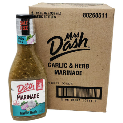 Case of 6 Mrs. Dash Garlic Herb Salt Free Marinade