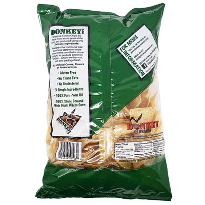 Donkey Unsalted Authentic Tortilla Chips- 14 oz. - Healthy Heart Market