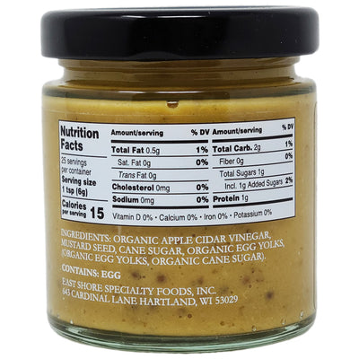 East Shore Stoneground Mustard for Cheese - 5 oz. - Healthy Heart Market