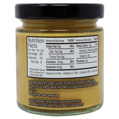 East Shore Sweet & Hot Mustard for Cheese - 5 oz. - Healthy Heart Market