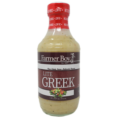 Farmer Boy Lite Greek Dressing-16 oz.