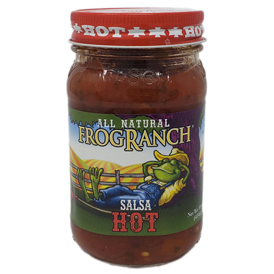 Frog Ranch Hot Salsa-16 oz. - Healthy Heart Market