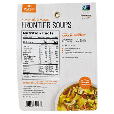 Frontier Chicken Noodle Soup Mix- No Salt Added-4.5 oz. - Healthy Heart Market
