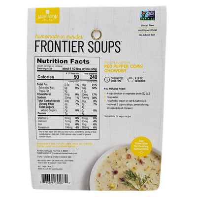 Frontier Soups- Florida Sunshine Red Pepper Corn Chowder-5 oz. - Healthy Heart Market