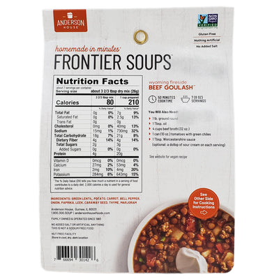 Frontier Beef Goulash soup mix-6 oz. - Healthy Heart Market