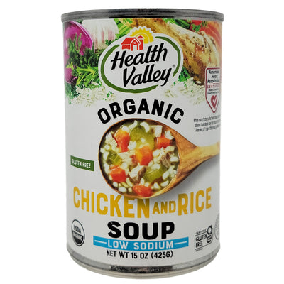 Health Valley Organic Chicken and Rice Soup Low Sodium - 15oz.