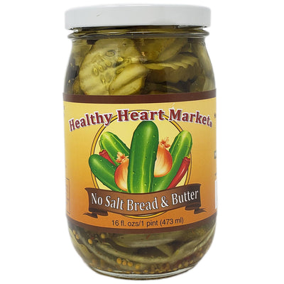 Healthy Heart Market No Salt Bread & Butter Pickle Chips - 16oz - Healthy Heart Market