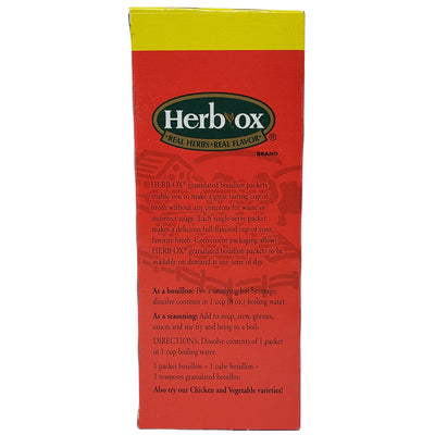 Herb-Ox Beef Bouillon-50 packets - Sodium Free-7.05 oz. - Healthy Heart Market