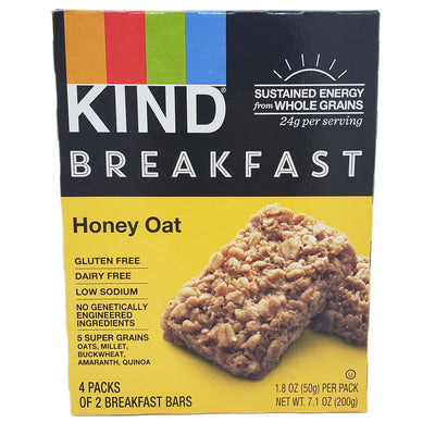4 Pack - Kind Breakfast Bars Honey Oat - 7.1 oz - Healthy Heart Market