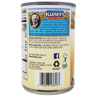 Kuner's Black Beans- No Salt Added-15 oz. - Healthy Heart Market