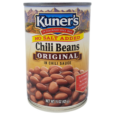 Kuner's Chili Beans in Chili Sauce- No Salt Added-15 oz. - Healthy Heart Market