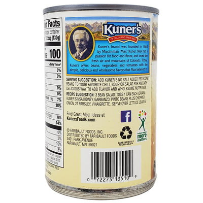 Kuner's Dark Red Kidney Beans- No Added Salt-15 oz. - Healthy Heart Market