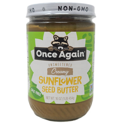 Once Again Creamy Sunflower Seed Butter Salt Free- 16-oz