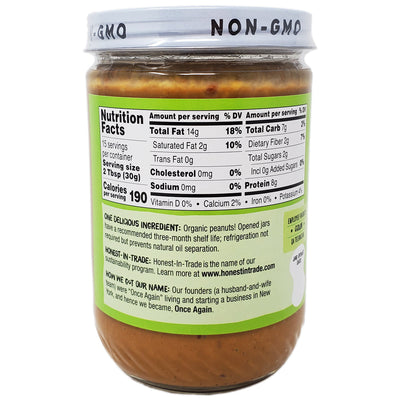 Once Again Organic No Salt Added Crunchy Peanut Butter - 16oz. - Healthy Heart Market