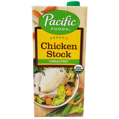 Pacific Organic Unsalted Chicken Stock - 32 oz. - Healthy Heart Market
