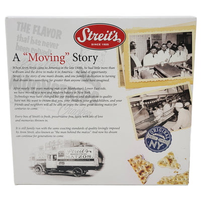 Streit's Unsalted Matzos Crackers-11 oz.