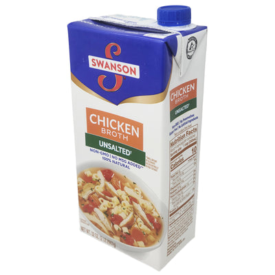 Swanson's Unsalted Chicken Broth - 32oz.