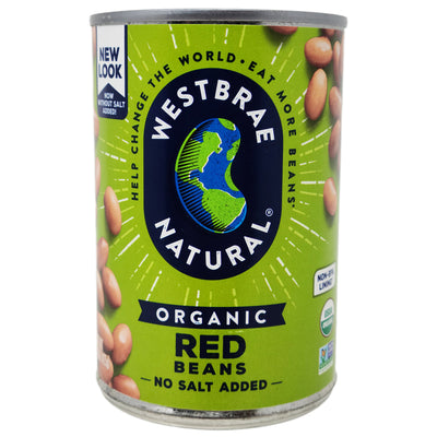 Westbrae Organic No Salt Added Red Beans - 15oz.