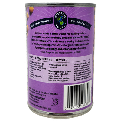 Westbrae Organic No Salt Added Lentil Beans - 15oz.