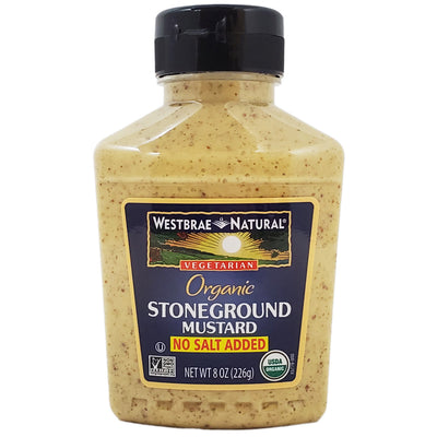 Westbrae Natural No Salt Added Stoneground Mustard - 8oz. - Healthy Heart Market
