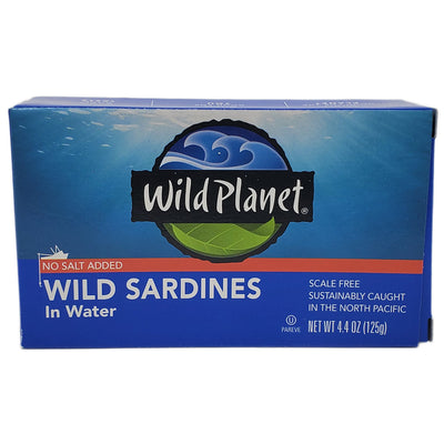 Wild Planet No Salt Added Wild Sardines in Water - 4.4oz.