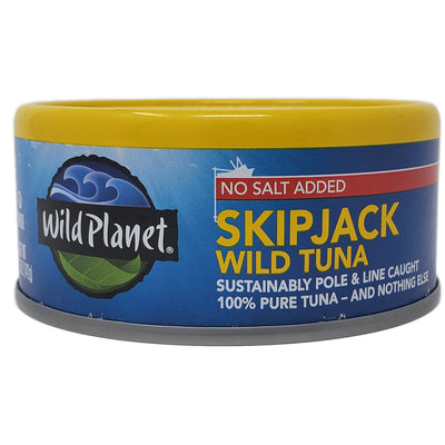 Wild Planet No Salt Added Skipjack Tuna - 5oz.