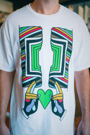 Imrich green heart white t-shirt