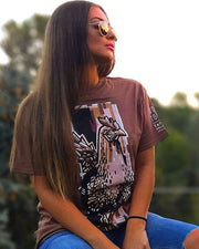 Bibiana chick brown t-shirt