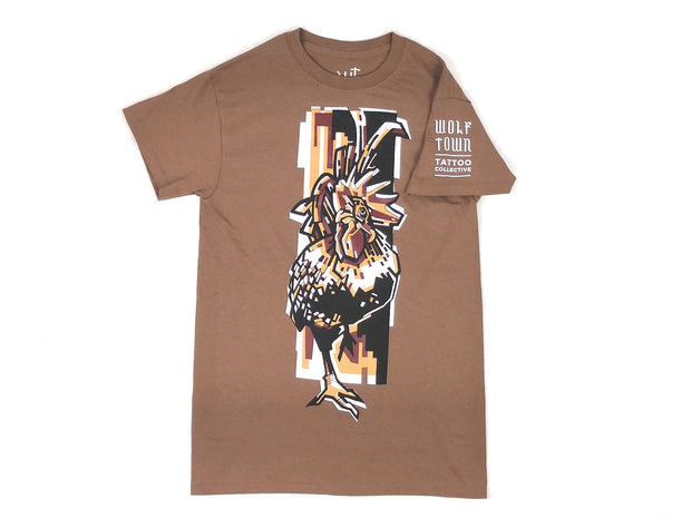 Bibiana rooster brown t-shirt