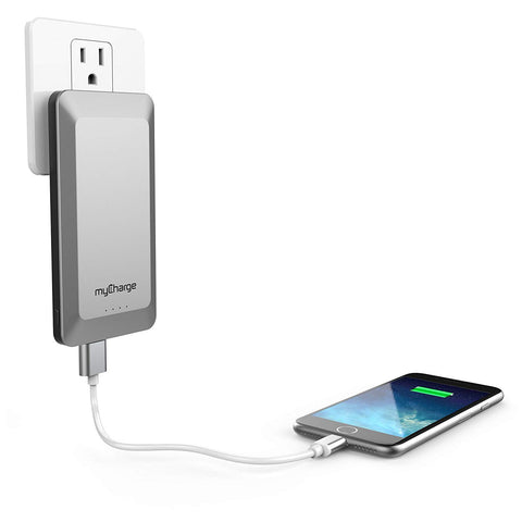 myCharge Home & Go Portable Charger 4,000mAh External Battery Pack with a Built-in USB Port