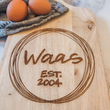 Custom Last Name Bread Board / Cutting Board