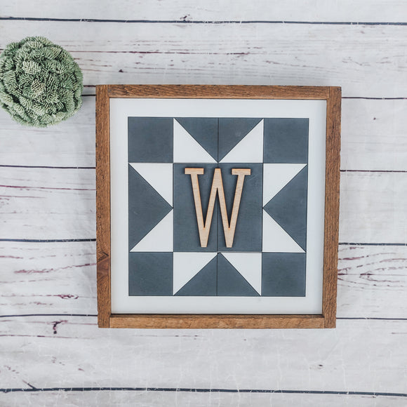 Customized Wood Barn Quilt Sign