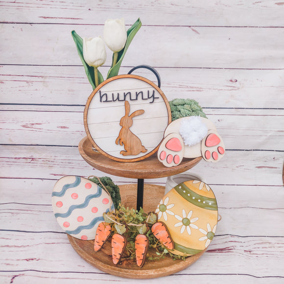 Easter Bunny Butt 5-Piece Tier Tray Bundle